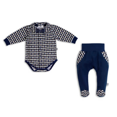 Shirt bodysuit + halfsleeper Little Gentleman